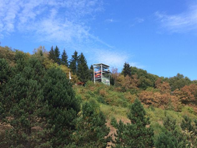 Dotti flog mit der Megazipline im Harz