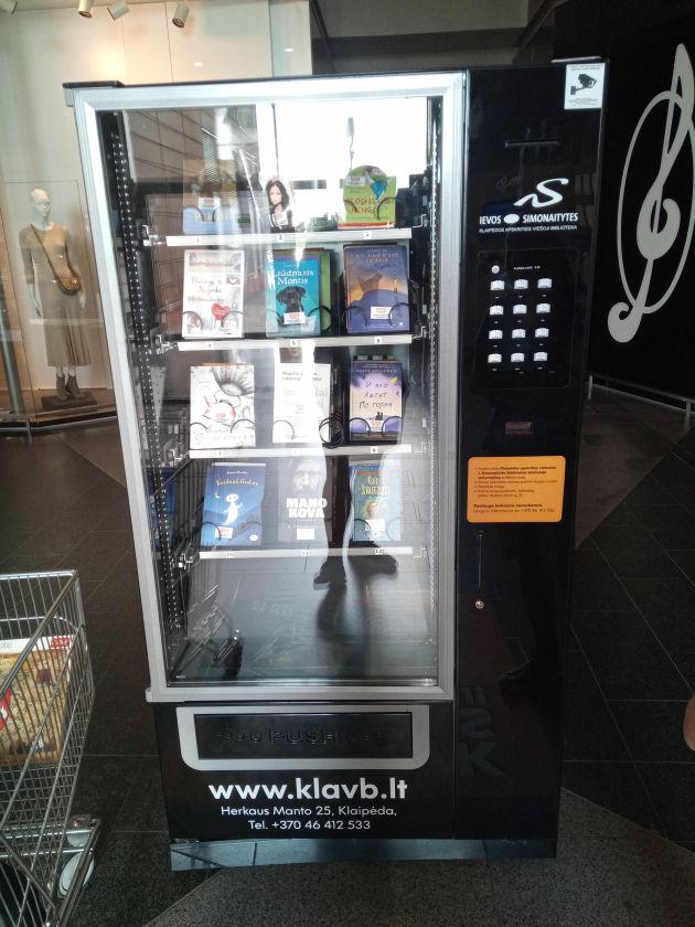 Bild von einem Buchautomaten in Klaipeda
